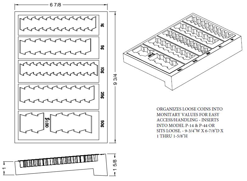 Cash Trays, Accessories, Filing Inserts - Fenco